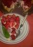 Tarte aux fraises crème légère infusée à la menthe