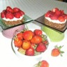 Tarte aux fraises et aux 2 chocolats