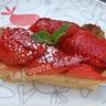 Tarte aux fraises façon amandine légère...