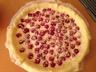 Tarte aux framboises à la mousse de chocolat blanc