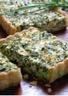 Tarte aux herbes et fromage frais de chèvre