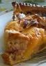 Tarte aux nectarines crème aux speculoos amandes effilées