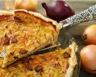 Tarte aux oignons jambon et fromage de chèvre