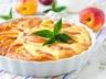 Tarte aux pêches au fromage blanc
