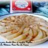 Tarte aux poires ganache chocolat blanc et roquefort Papillon caramel au beurre salé