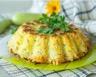 Tarte aux pommes de terre courgettes lardons et gruyère