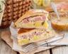 Tarte aux pommes de terre jambon blanc et fromage