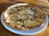 Tarte aux pommes noix et raisins