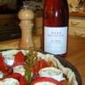 Tarte aux tomates fraîches et fromage de chèvre