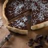 Tarte bio au chocolat noir & à la noix de coco sans gluten