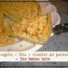 Tarte courgette feta crumble de parmesan