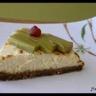 Tarte d'amour au fromage blanc et rhubarbe pochée