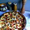 Tarte estivale tomate pommes de terre olive pignons...
