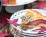Tarte facile de poires pochées au vin rouge