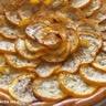 Tarte fine aux courgettes jaunes et crème d'alhambra