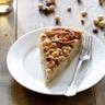 Tarte gourmande aux pommes pâte d'amandes et amandes caramélisées