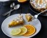 Tarte meringuée orange et cirton