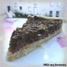 Tarte mousseuse au chocolat & poires poêlées au miel