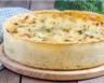 Tarte moutardée aux choux de Bruxelles lardons et parmesan