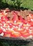 Tarte panacotta rhubarbe aux fraises