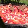 Tarte pannacotta rhubarbe aux fraises