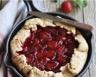 Tarte rustique aux fraises à la poêle