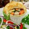 Tarte salée au poulet et légumes