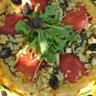 Tarte tatin aux tomates  courgette et boulgour
