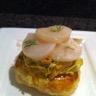Tartelette feuilletée aux noix de saint-jacques