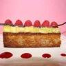 Tartelette framboises et rhubarbe vanillée sur une crème de coco