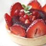Tartelettes aux fraises en gelée de fruits rouge