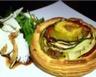 Tartelettes aux légumes marinés copeaux de chèvre et roquette