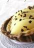 Tartelettes choco-poires à la crème de noisettes et café