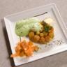 Tartelettes de carottes nouvelles à la tomme de savoie et sa crème verte