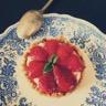 Tartelettes fraises basilic et mousse de chèvre... sans cuisson