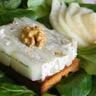 Tartine de pain d'épices aux poires et crème de Saint Agur aux noix
