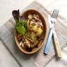 Tartine de poire rôtie roquefort noix et miel