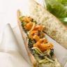 Tartine de saumon fumé aux légumes marinés / grillés olives et citron confit