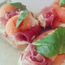 Tartine jambon-cru et melon