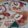Tartine St Agur et jambon cru