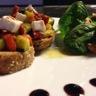 Tartines de légumes rôtis et fromage de chèvre