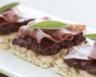 Tartines tapenade d'olives et jambon