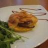 Tatin de foie gras poêlé et ses pommes déglacées au vinaigre de framboise