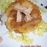 Tatin de pommes de foie gras