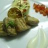 Thon grillé taboulé à la menthe sauce au yaourt et huile de citron