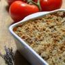 Tian provençal et son crumble de sardines à la Moutarde Forte
