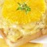 Toast aux noix et gruyère AOC et soupe au poireau et à l'orange