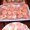 Toasts apéritifs au sumon fumé et radis noir
