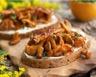 Toasts aux champignons et au chèvre
