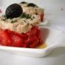 Tomates à la mousse de thon